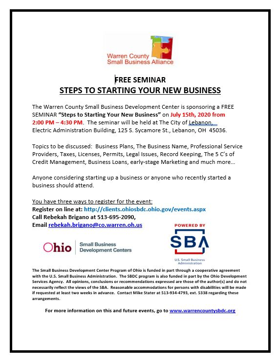 Starting Your New Business